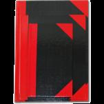 紅黑硬皮簿