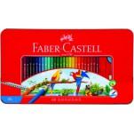 Faber 水溶60色木顏色(鐵盒)