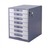 Deli 金屬有鎖7層文件櫃