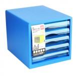 Deli 塑料5層文件櫃